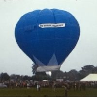A Hot Air Balloon launching at a fete