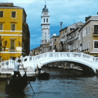 Film of picturesque Venice in Italy from 1963