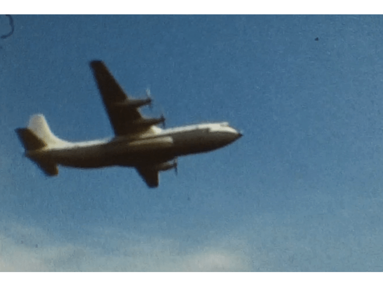 A still image from a 1970s film of an Air Display