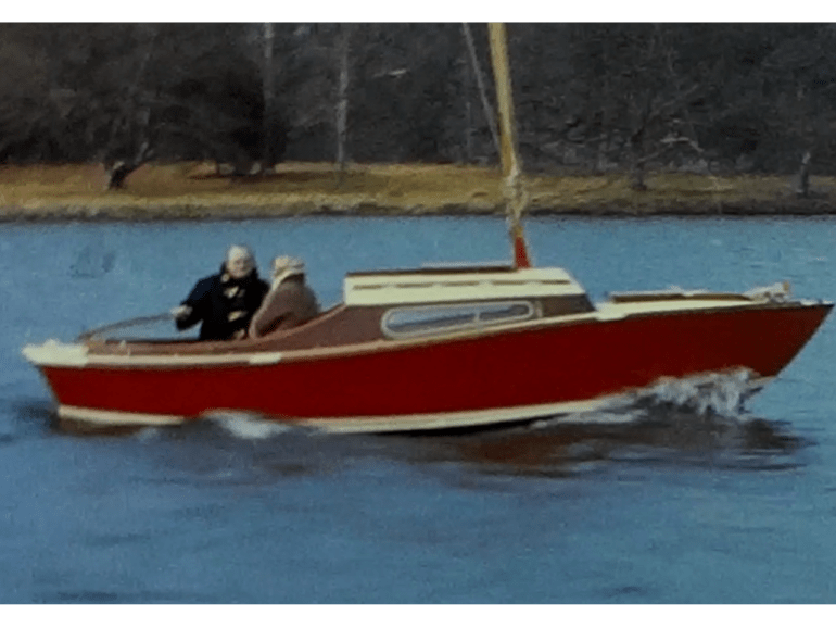 A Still image taken from a vintage home movie showing a trip to Lake Windermere in the 1960s