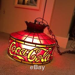 Vintage Drink Coca Cola Tiffany Style Style Lamp Shade Red