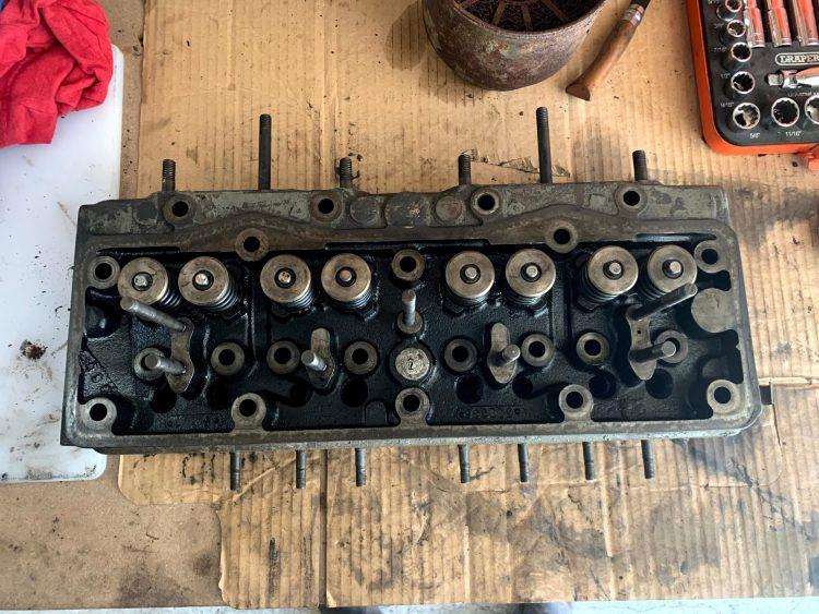 Ferguson TEF20 head rebuild with valve lapping