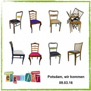 Vintage - vom Stuhl aufwärts: Deine eigenART - Potsdam, wir kommen 09.03.13