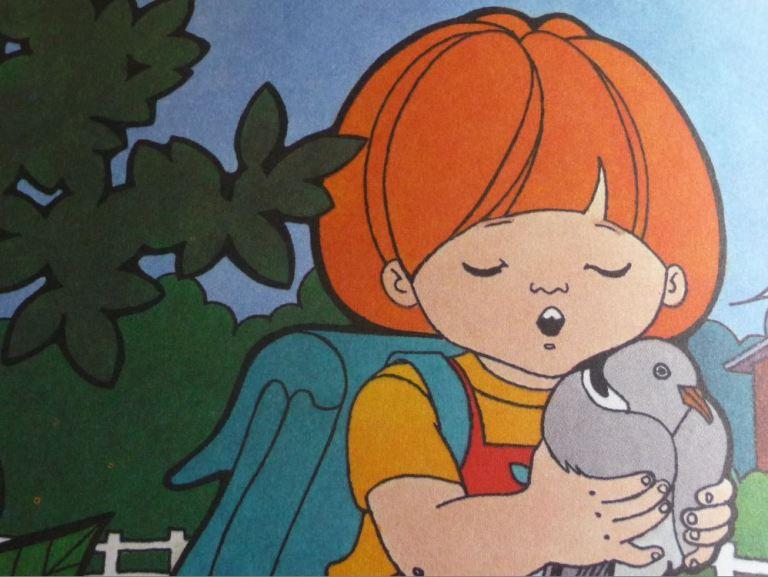 image tirée du livre de Dina Kathelyn : marmouset soigne une tourterelle.