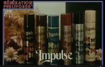 Pub déodorant impulse des années 80