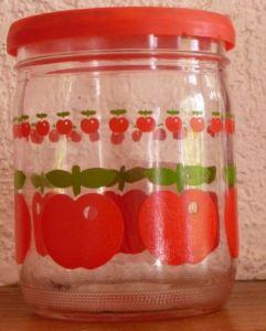 Bocal en verre Henkel pommes rouged