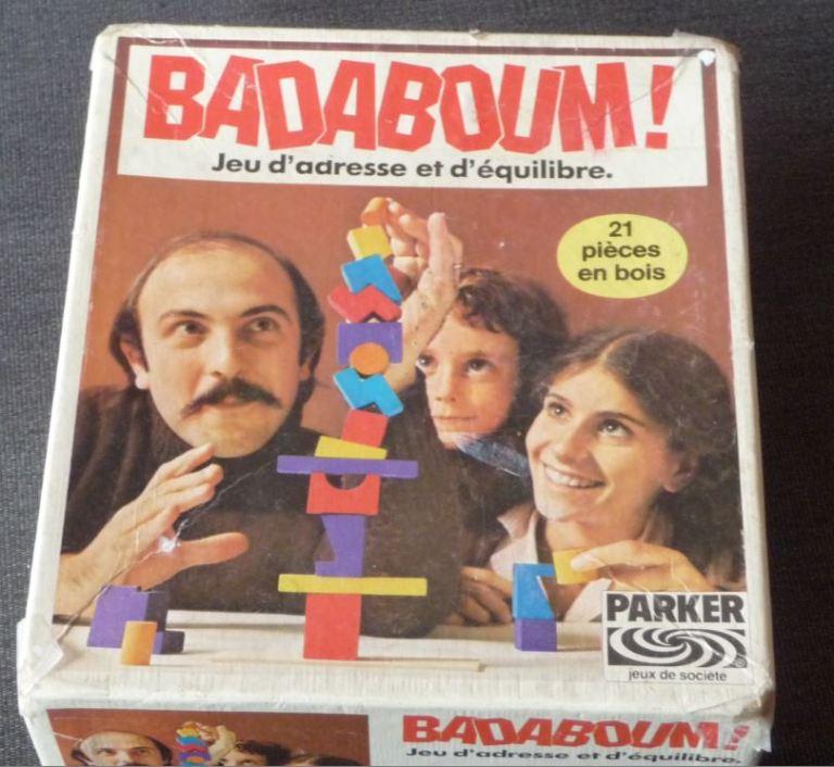 Boite du jeu Parker vintage Badaboum