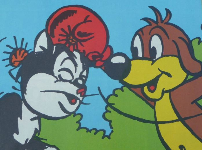 Pif et Hercule font de la boxe