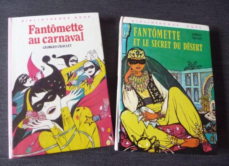 """livres """"Bibliothèque rose"""" Fantômette au carnaval et Fantômette et le secret du désert"""