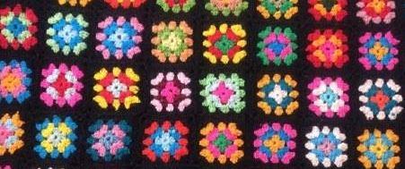 Couverture vintage en crochet
