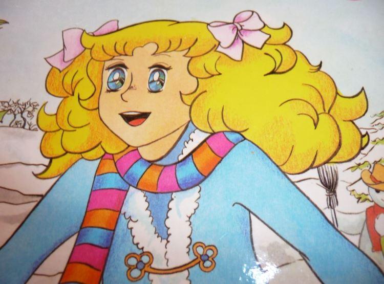 Candy dans la neige page du livre la ruse de Candy