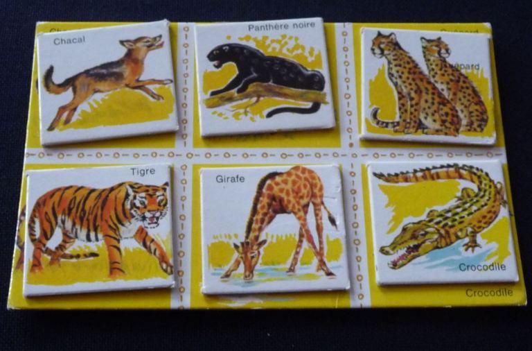 Loto des animaux sauvages vintage Carton et images