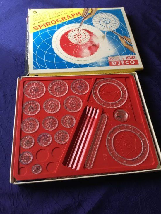 Spirograph vintage boîte de jeu ouverte Denys Fisher années 60