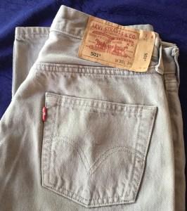 Levis 501 vintage beige