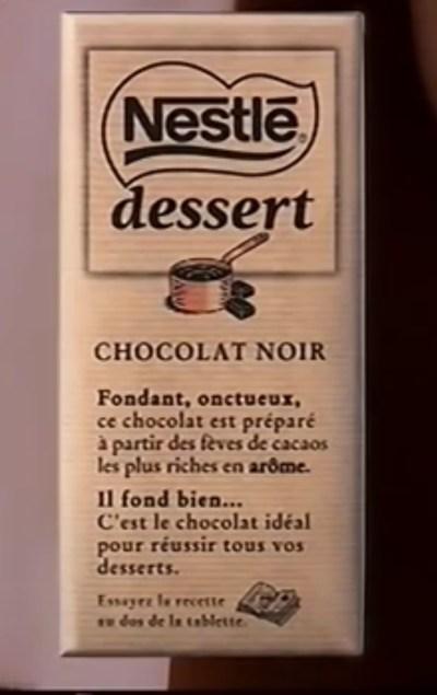 Pub chocolat Nestlé Tablette