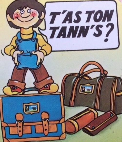 Tann's vintage autocollant