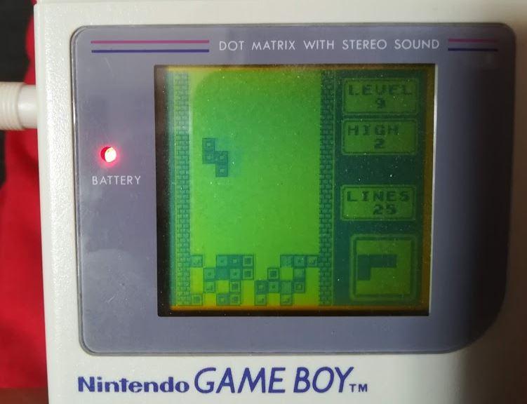 Jeu Tetris sur Game Boy