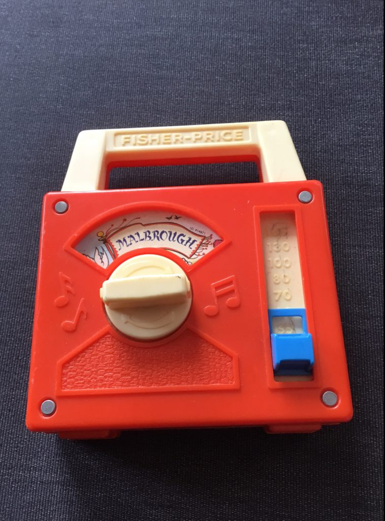 Boîte à musique Fisher Price Malbrough recto