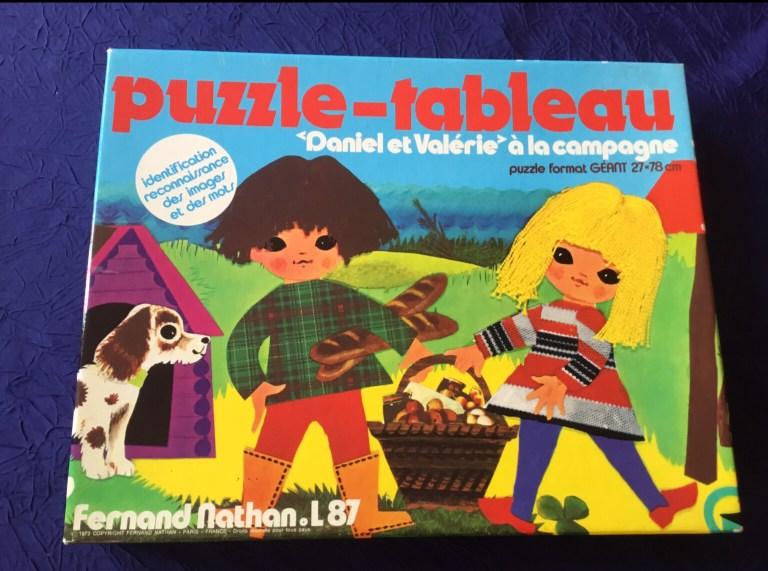 Puzzle vintage Daniel et Valérie à la campagne