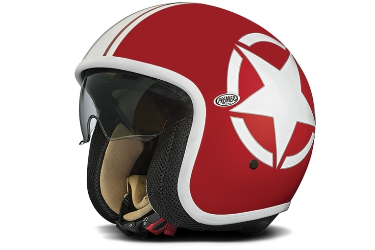 casque premier jet vintage star 2 rouge