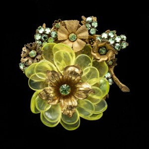 1950s Signed Miriam Haskell Brooch