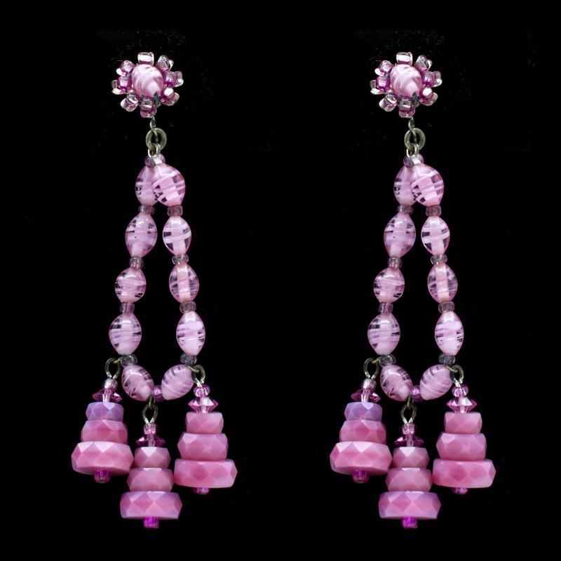Miriam Haskell Pink earrings