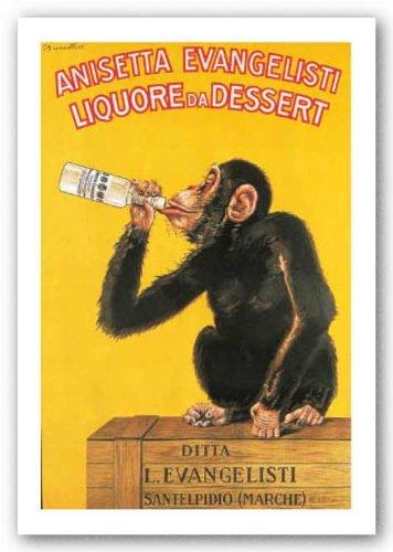"""Carlo Biscaretti Di Ruffia - """"Anisetta Evangelisti, Liquore da Dessert"""" Carlo Biscaretti Di Ruffia, 1925"""