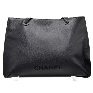 "30561 - Chanel Black Leather ""Shopping Sac,"" Autumn 1998"
