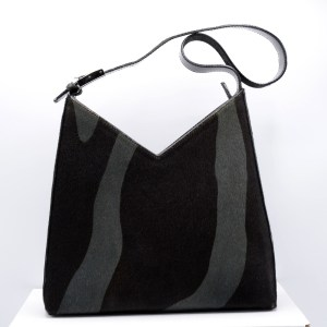 31602 - Ferragamo Green & Black Zebra Print Calfskin Handbag, 1995