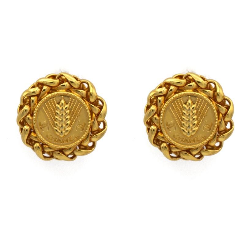 25015 - Chanel Roman Wheat motif Earrings, 1998