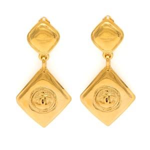 Chanel 1990 Double Diamond Earrings