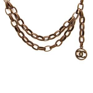 Chanel Bronze Finish Swag Belt, 1987