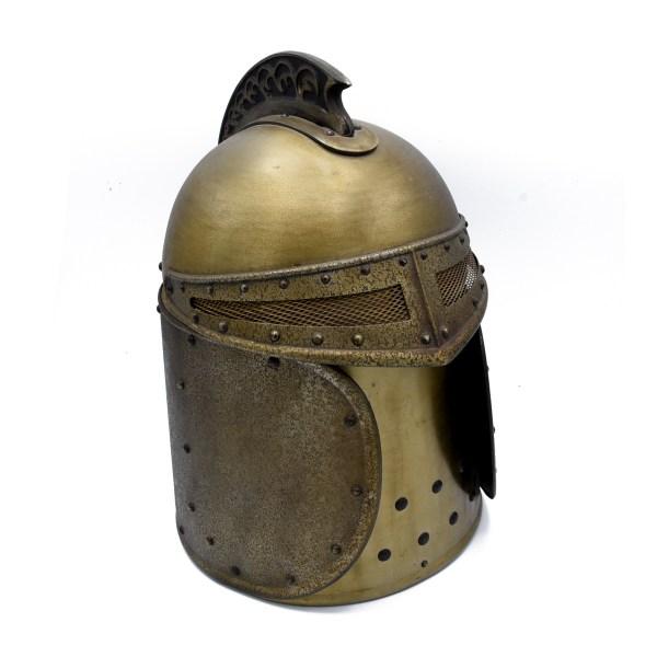 Mid Century Knights Helmet Bar Tool Carrier