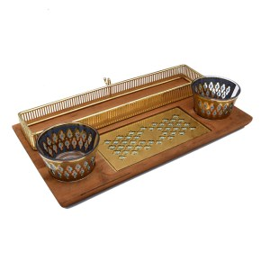 Culver Seville Snack Tray with Dip Bowls