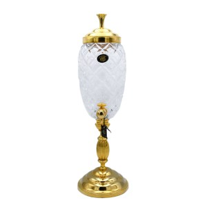 French Gold & Cut Crystal Absinthe Fountain, 1950s
