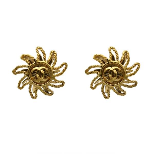 Chanel Rope Twist Sun Earrings, Autumn 1994