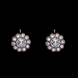 Product photo for Revival Paste Sterling Set Florette Earrings