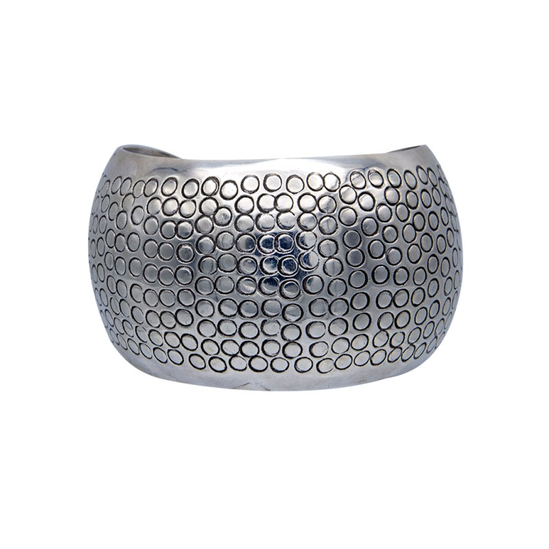 Product Photo for Mexican Sterling Silver Scale engraved Chunky Cuff