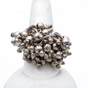 Taxco Silver Pom Pom Ring