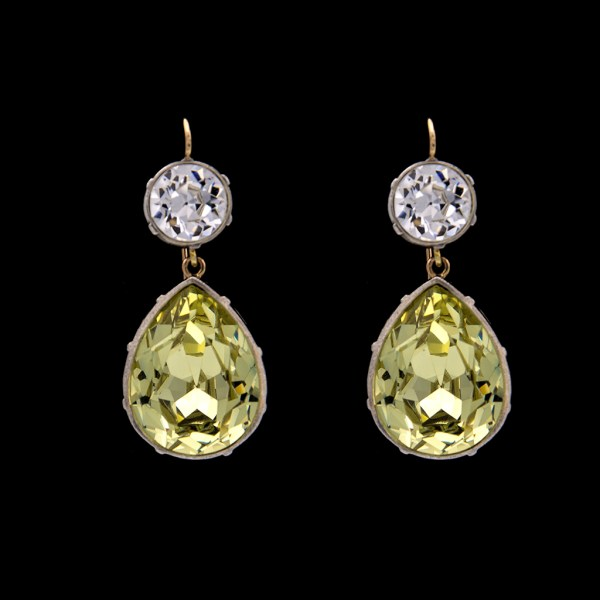 Product Photo of Revival Paste Jonquil Pear Drop Earrings