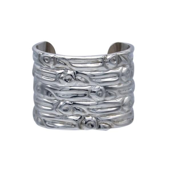 Vintage Taxco Sterling Massive Repousse Cuff Bracelet