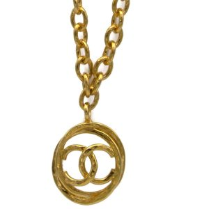 """Chanel 29 1/2"""" Oval Link Chain with Interlinked Oval Logo Pendant & Stations, 1990"""