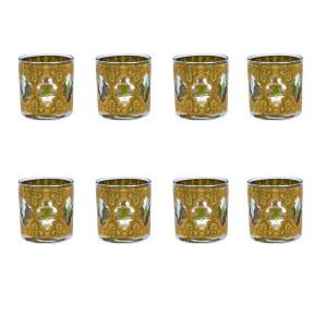 "Culver ""Valencia"" Small Rocks Glasses, Set of Eight (8)"