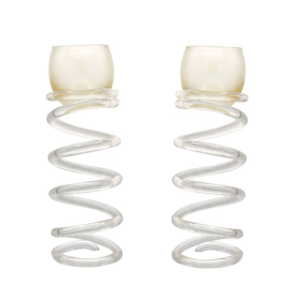 Dorothy Thorpe Lucite Spiral Candle Holders, 1960s