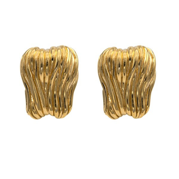 Givenchy Large Free Form Textured Earrings, 1990