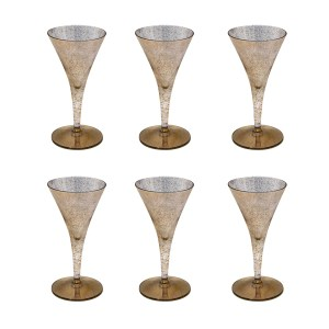 """Dorothy Thorpe """"Gold Fleck"""""""" Champagne Glasses, Set of Six (6)"""