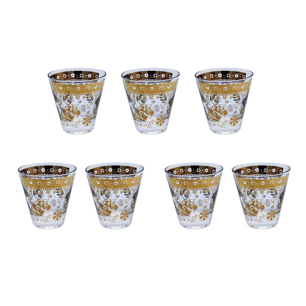 "Culver ""Chantilly"" Cordial Glasses, Set of Seven (7)"
