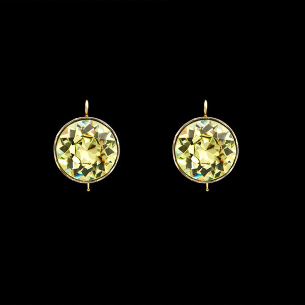 Revival Paste 5 Carat Jonquil Headlight Earrings