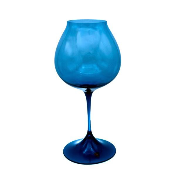 Vintage Orrefors Swedish Blue Tulip Vase