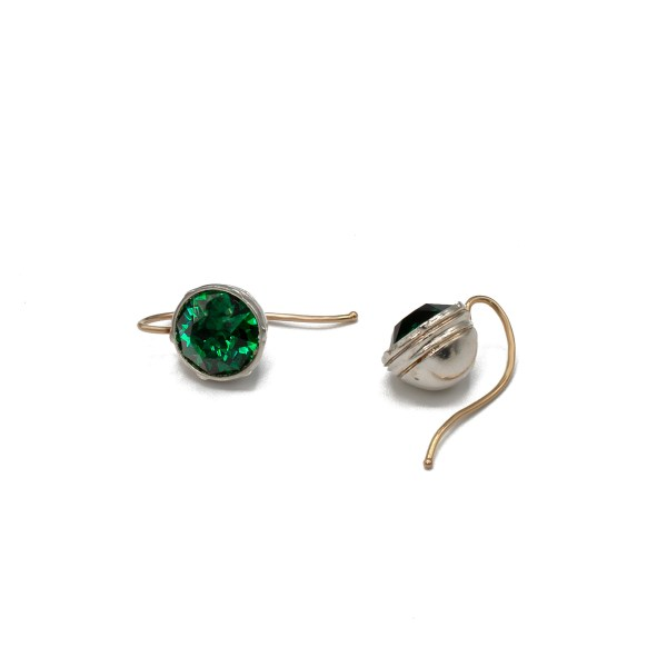 Revival Paste 2 Carat Emerald Headlight Earrings